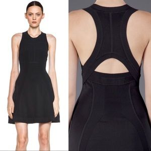 {ALC} Barrett Cutout Racerback Sculpted Knit Dress